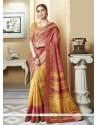Radiant Multi Colour Print Work Silk Printed Saree