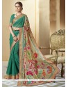 Thrilling Silk Print Work Printed Saree