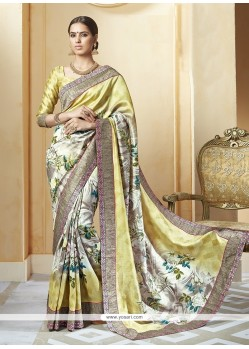 Modern Silk Print Work Printed Saree