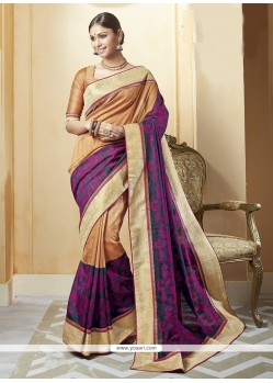Gleaming Silk Multi Colour Printed Saree