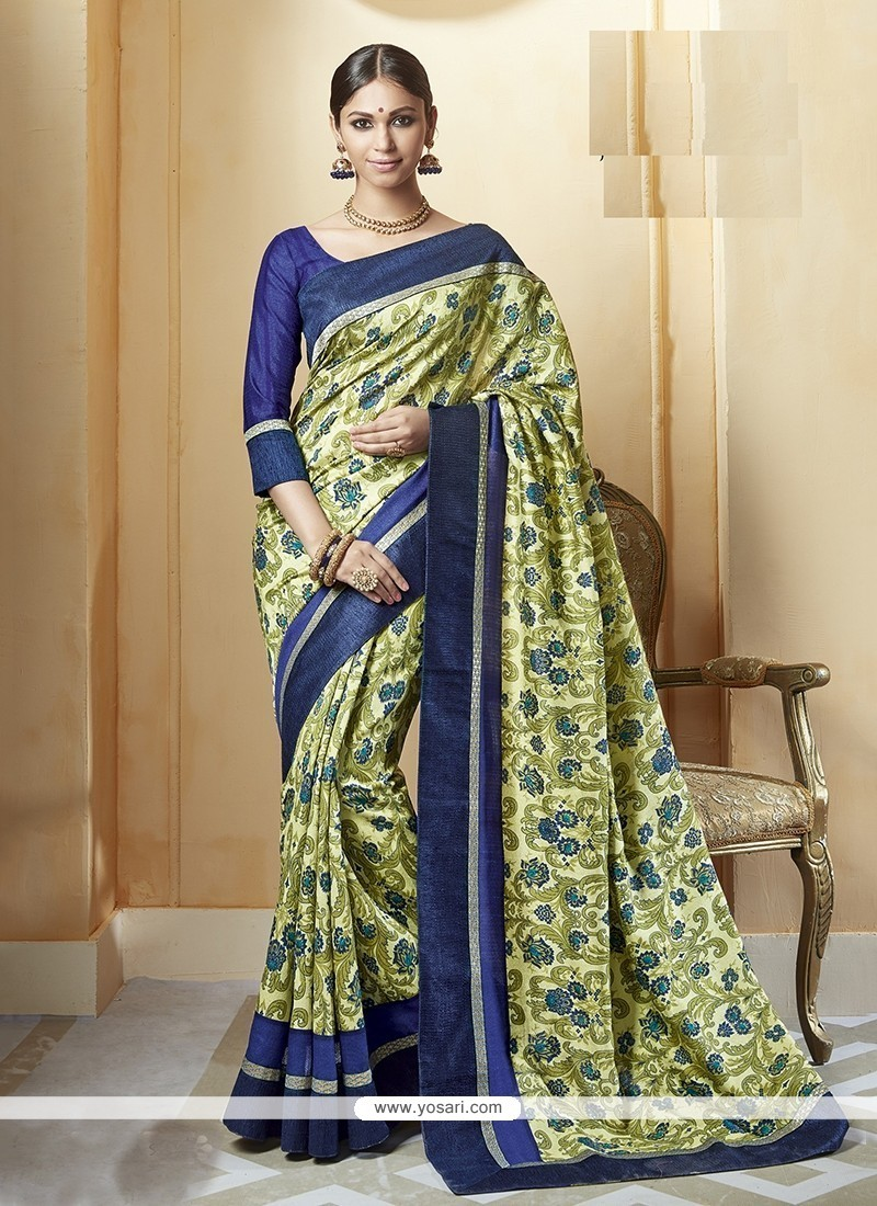 Blooming Printed Saree For Festival