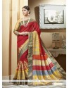 Glamorous Print Work Multi Colour Printed Saree