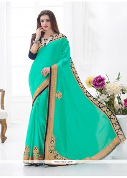 Sterling Embroidered Work Designer Saree