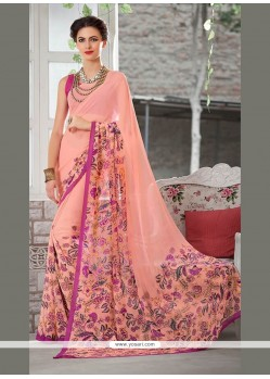 Breathtaking Georgette Multi Colour Printed Saree