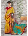 Classical Georgette Multi Colour Printed Saree