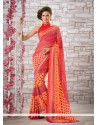 Impeccable Georgette Print Work Printed Saree