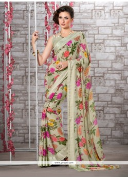 Voluptuous Multi Colour Printed Saree