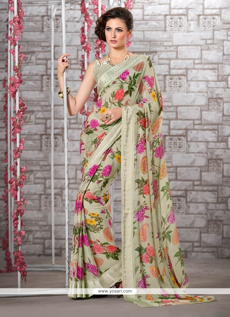 Voluptuous Multi Colour Printed Saree