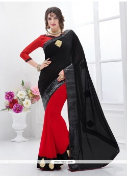 Dazzling Patch Border Work Classic Saree