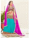 Attractive Lace Work A Line Lehenga Choli