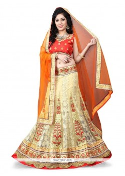 Graceful Net Patch Border Work Designer Lehenga Choli