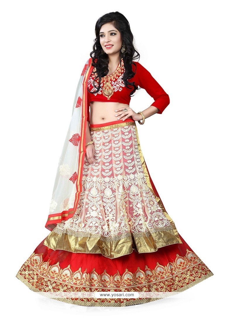 Flawless Net Embroidered Work Designer Lehenga Choli