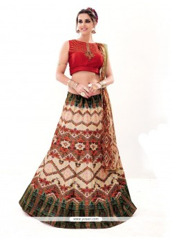 Magnetize Embroidered Work A Line Lehenga Choli