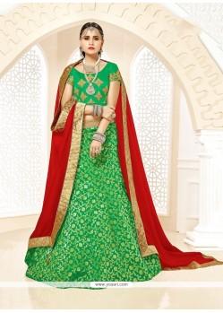 Hypnotizing Green Designer Lehenga Choli