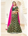 Phenomenal Green Patch Border Work Designer Lehenga Choli