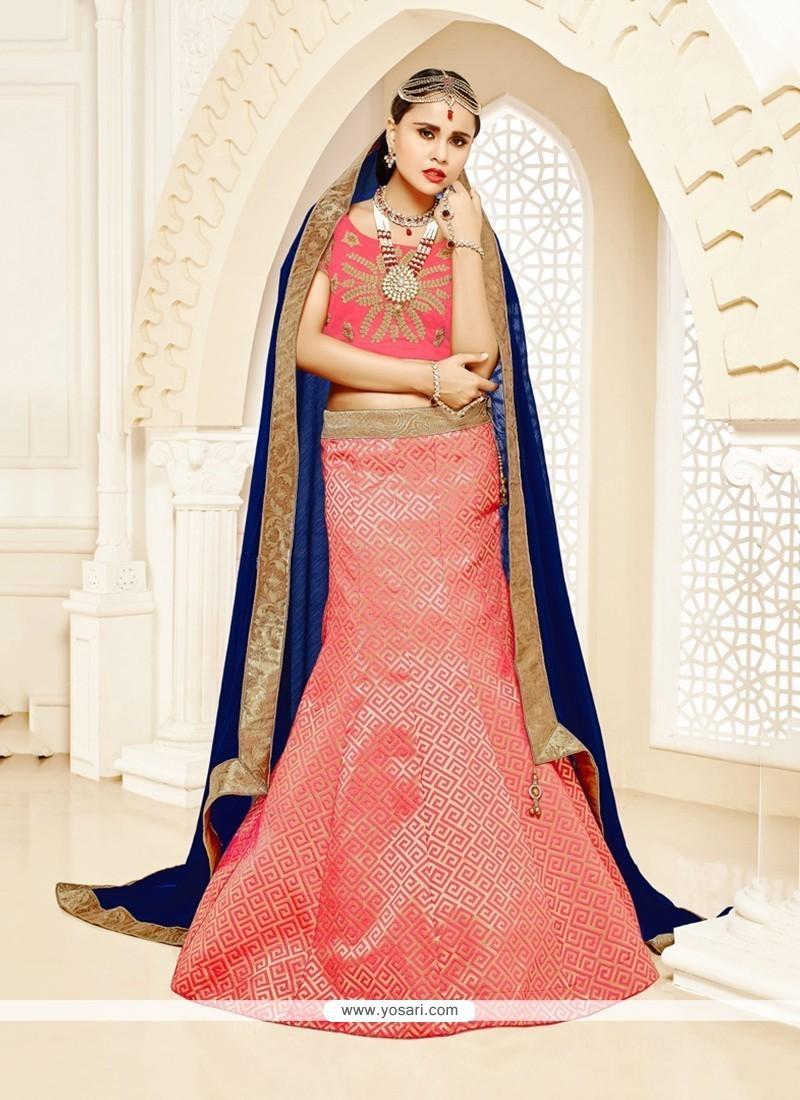Extraordinary Rose Pink Designer Lehenga Choli