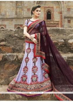 Sophisticated Satin Embroidered Work A Line Lehenga Choli