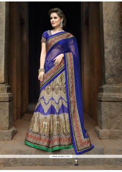Superlative Embroidered Work Satin A Line Lehenga Choli
