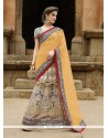 Pristine Satin Patch Border Work A Line Lehenga Choli