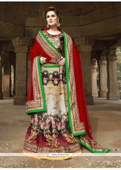 Exciting Satin Multi Colour A Line Lehenga Choli