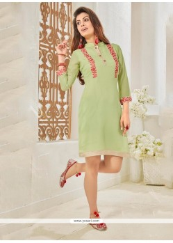 Nice Cotton Satin Designer Kurti