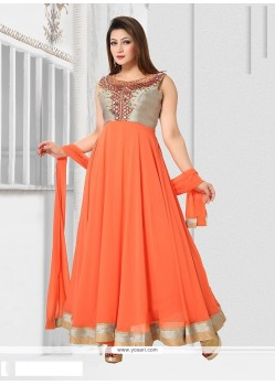 Amusing Orange Readymade Suit