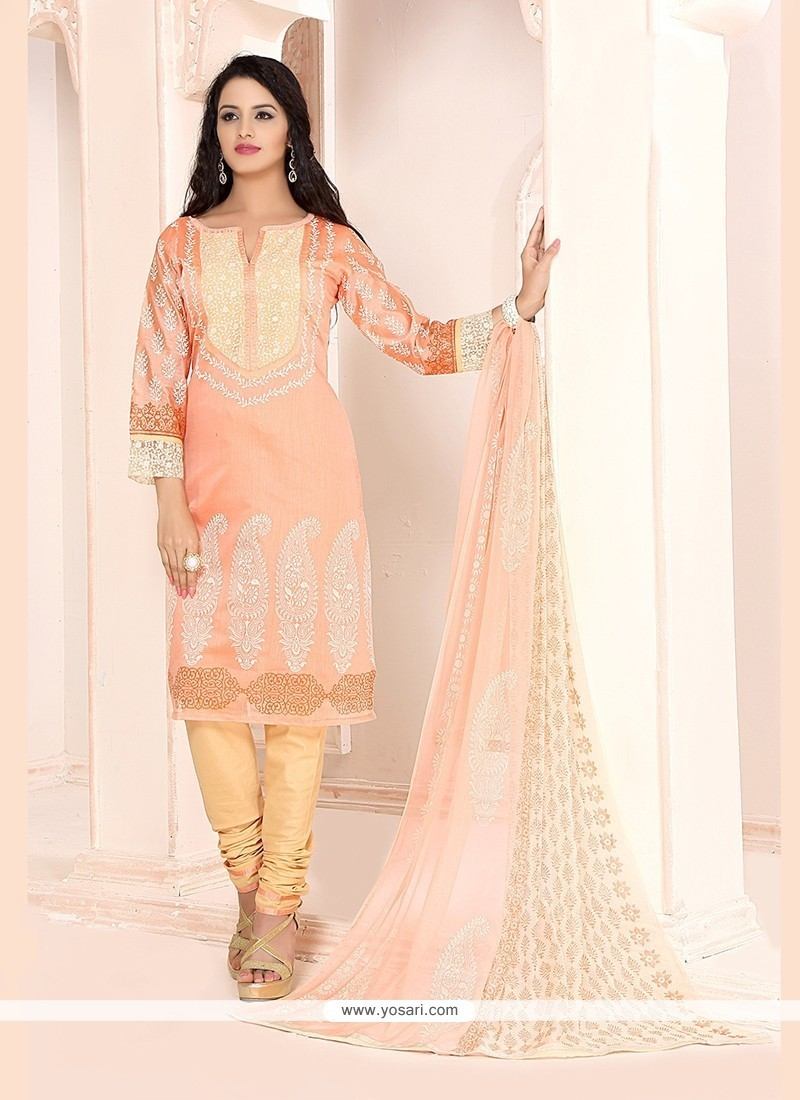 Mystical Embroidered Work Churidar Designer Suit