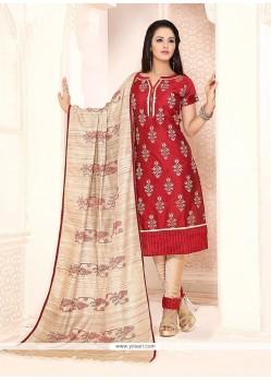 Simplistic Chanderi Churidar Designer Suit