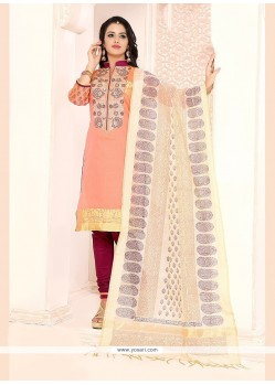 Splendid Embroidered Work Churidar Designer Suit