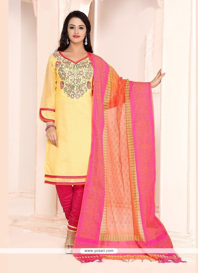 Customary Lace Work Churidar Designer Suit