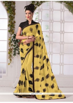 Exceeding Georgette Yellow Printed Saree