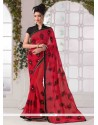 Innovative Red Printed Saree