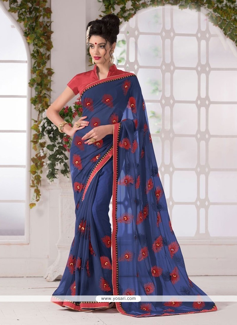 Festal Georgette Printed Saree