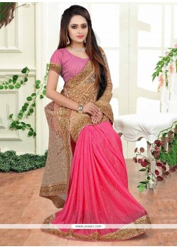 Vivacious Net Patch Border Work Designer Saree