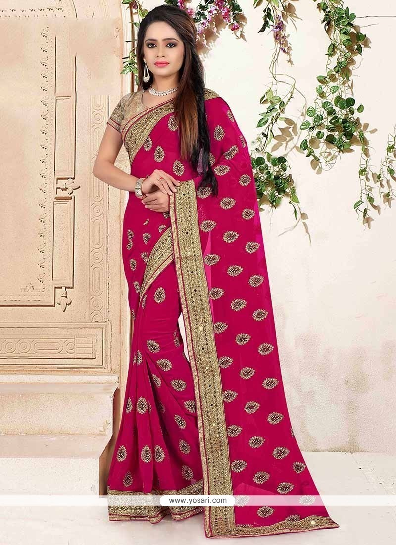 Integral Embroidered Work Designer Traditional Sarees