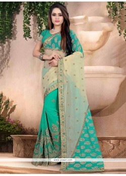 Exceeding Lycra Patch Border Work Designer Saree