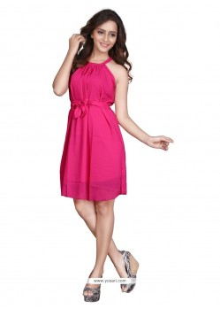 Prominent Hot Pink Casual Kurti
