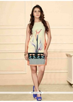 Stylish Print Work Party Wear Kurti
