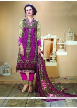 Masterly Fancy Fabric Multi Colour Designer Straight Salwar Kameez