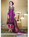 Masterly Fancy Fabric Multi Colour Designer Straight Salwar Kameez