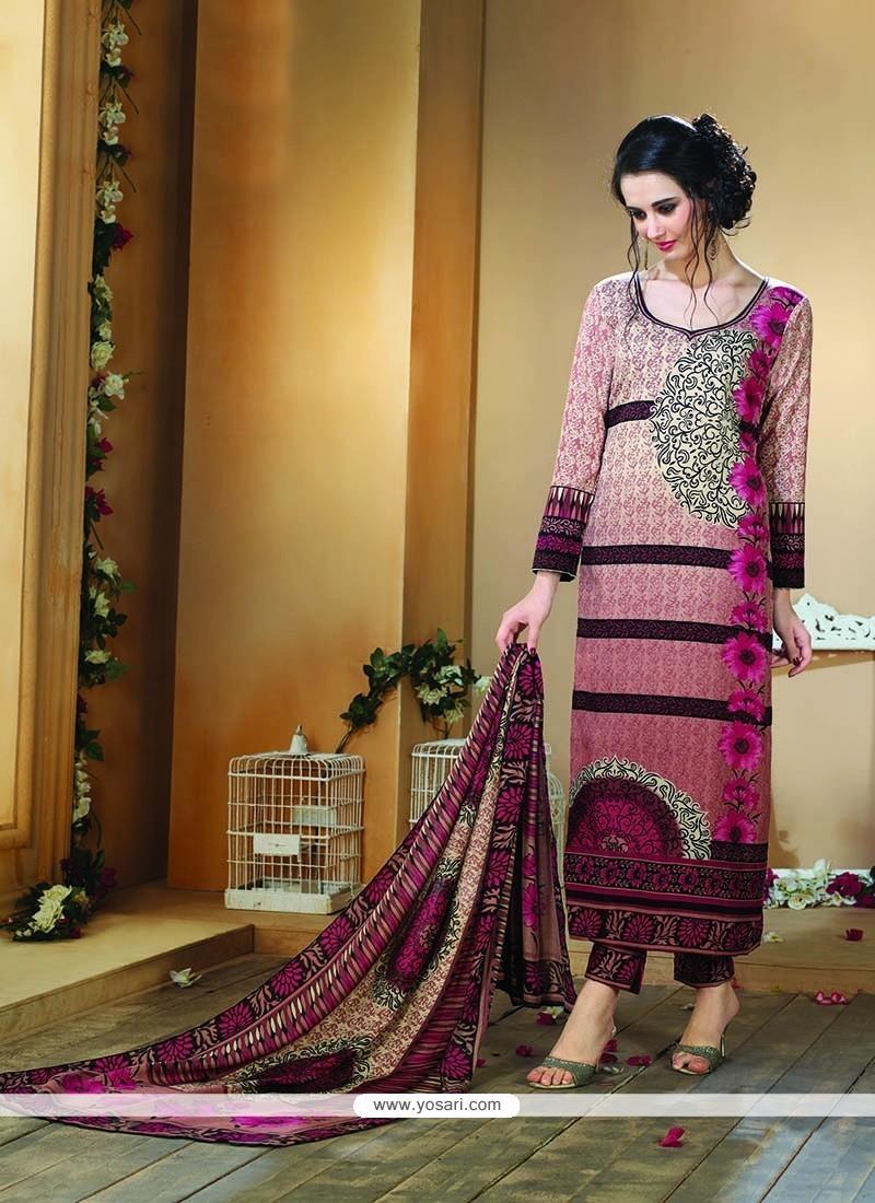 db6db04157 Flawless Fancy Fabric Multi Colour Print Work Designer Straight Salwar  Kameez