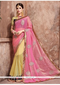 Modern Georgette Pink Traditional Saree
