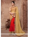 Modern Georgette Red Embroidered Work Classic Saree