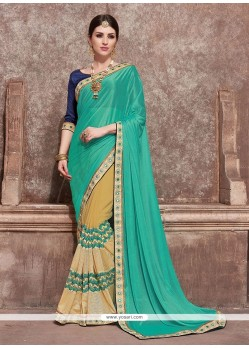 Desirable Georgette Beige Trendy Saree