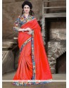 Affectionate Bhagalpuri Silk Red Printed Saree