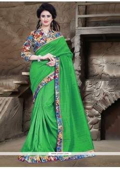 Orphic Patch Border Work Printed Saree