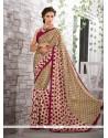 Fashionable Multi Colour Faux Crepe Printed Saree