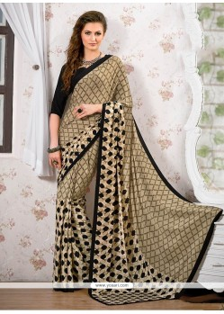 Exuberant Multi Colour Print Work Printed Saree