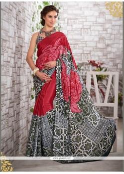 Desirable Print Work Multi Colour Printed Saree
