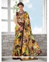 Ravishing Faux Crepe Printed Saree